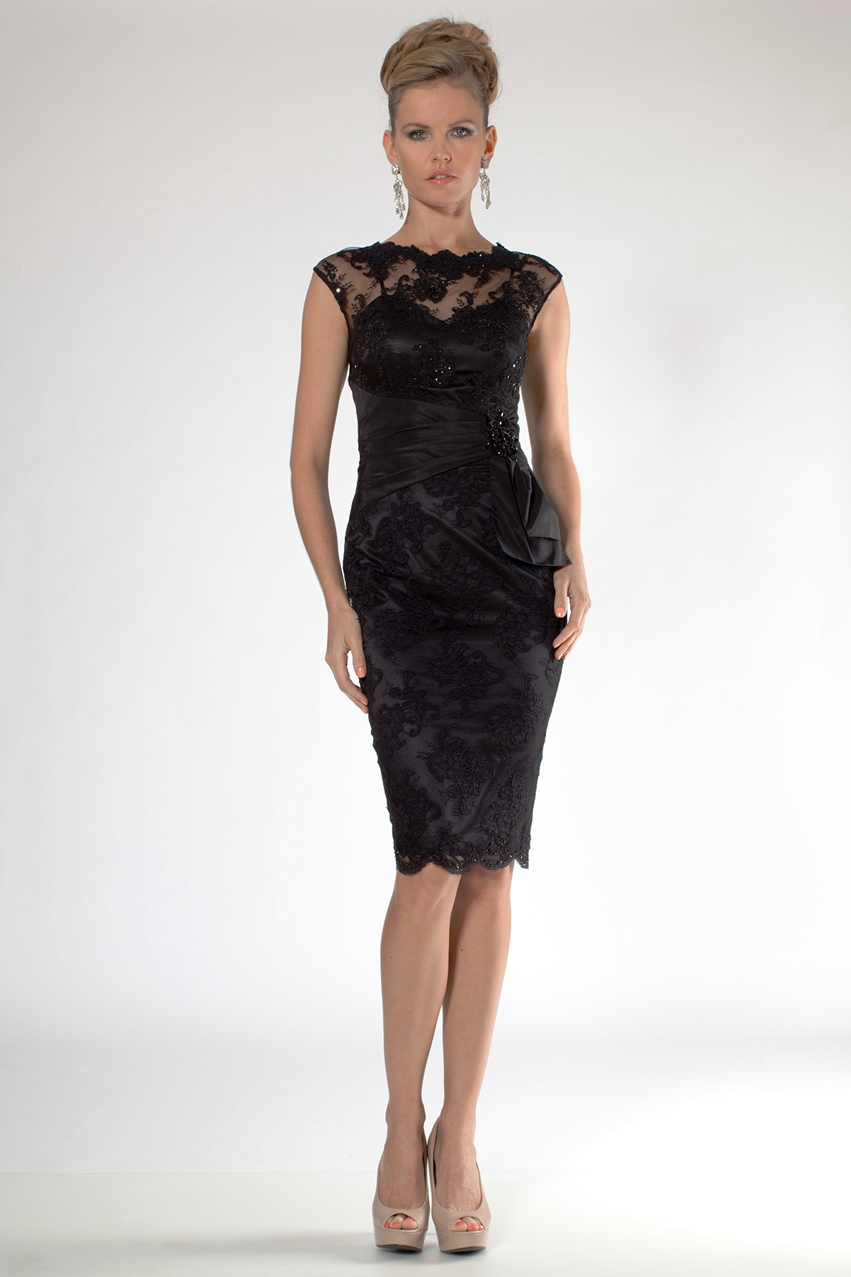 Black Lace party wear Cocktail Dress