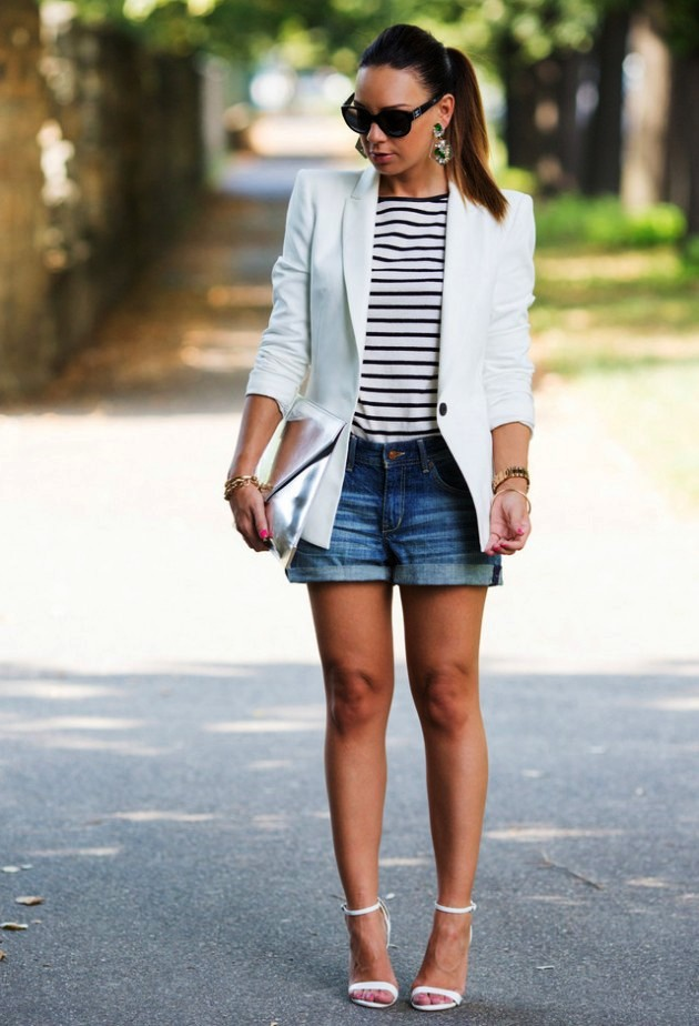 Boyfriend Shorts Outfit Ideas