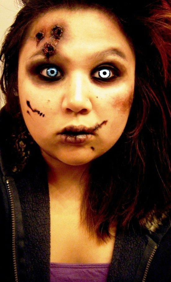 40 Scary Halloween Makeup Ideas for Women - Flawssy