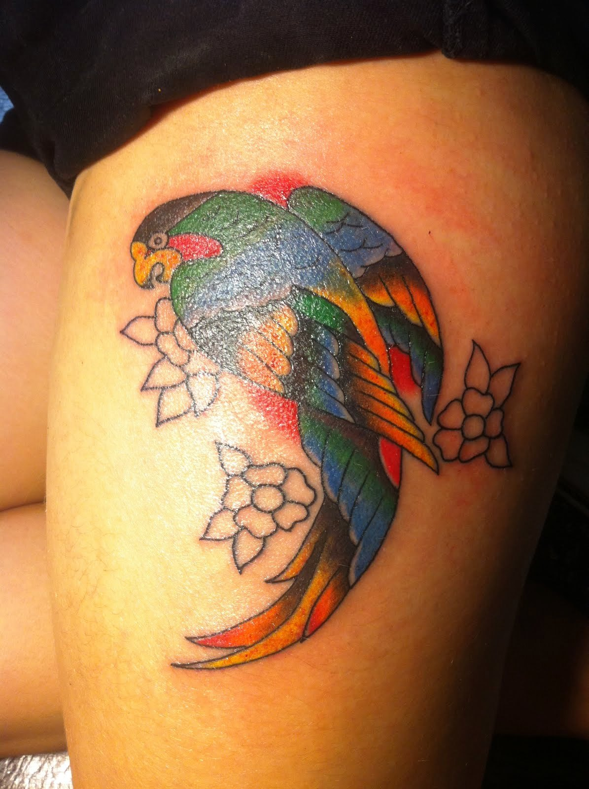 Tattoo Ideas Upper Thigh: 30 Women Thigh Tattoos To Try To Look Attractive