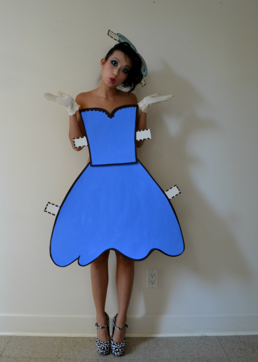 Homemade Halloween Costumes Paper Dolls
