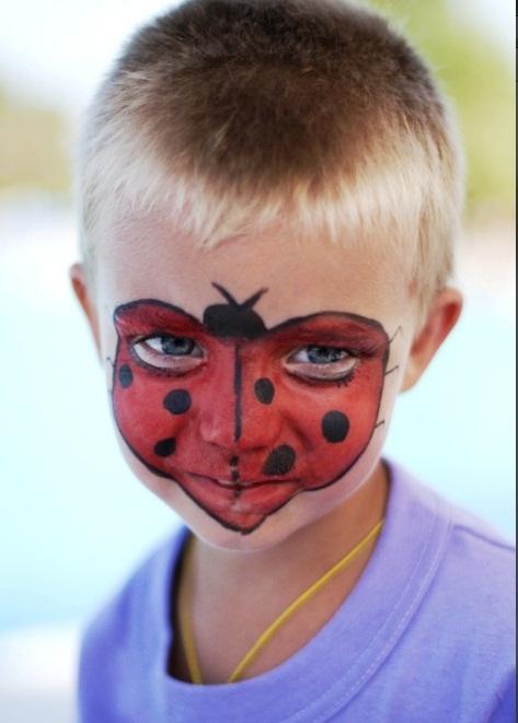 Ladybug Face Halloween Makeup Ideas