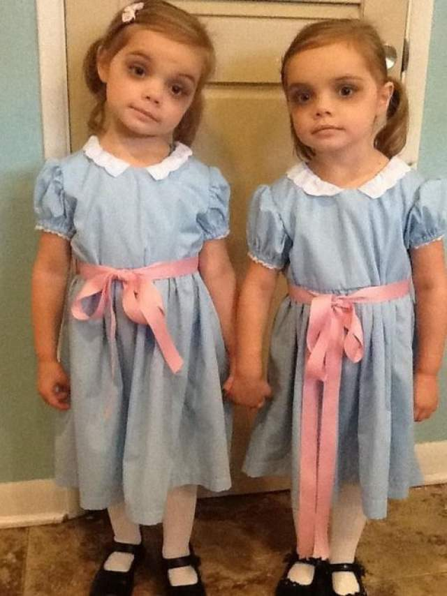 shining twin girls halloween costumes