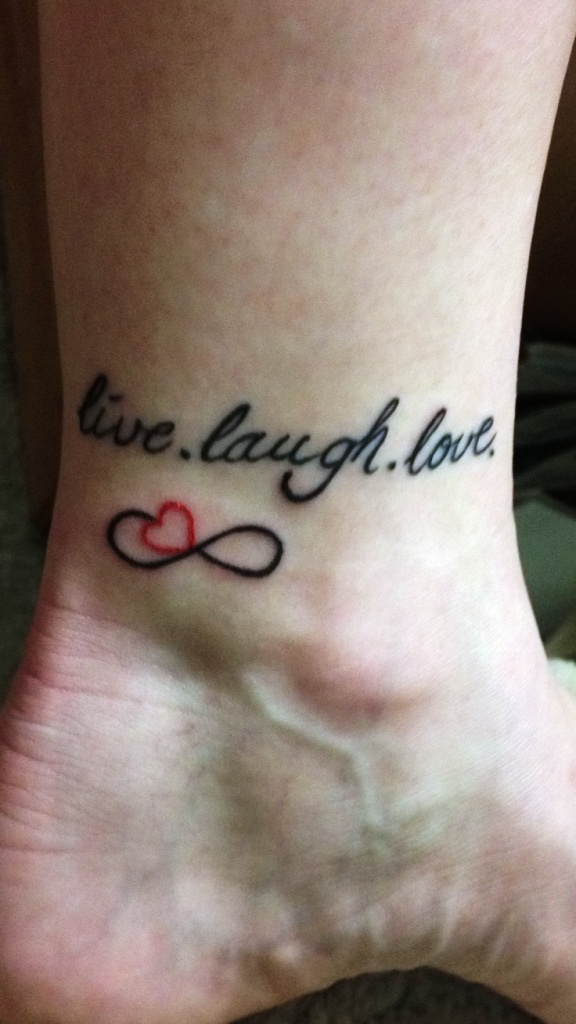 Love Infinity Tattoo with Name