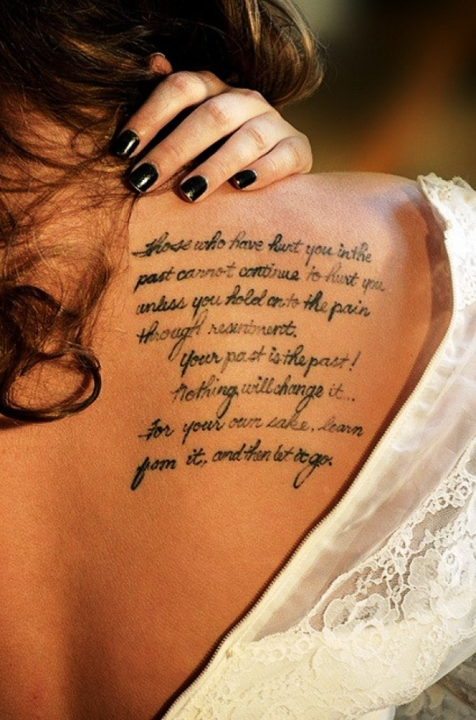 Love Quote Tattoos for Women