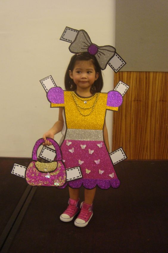 Paper Doll Halloween Costume