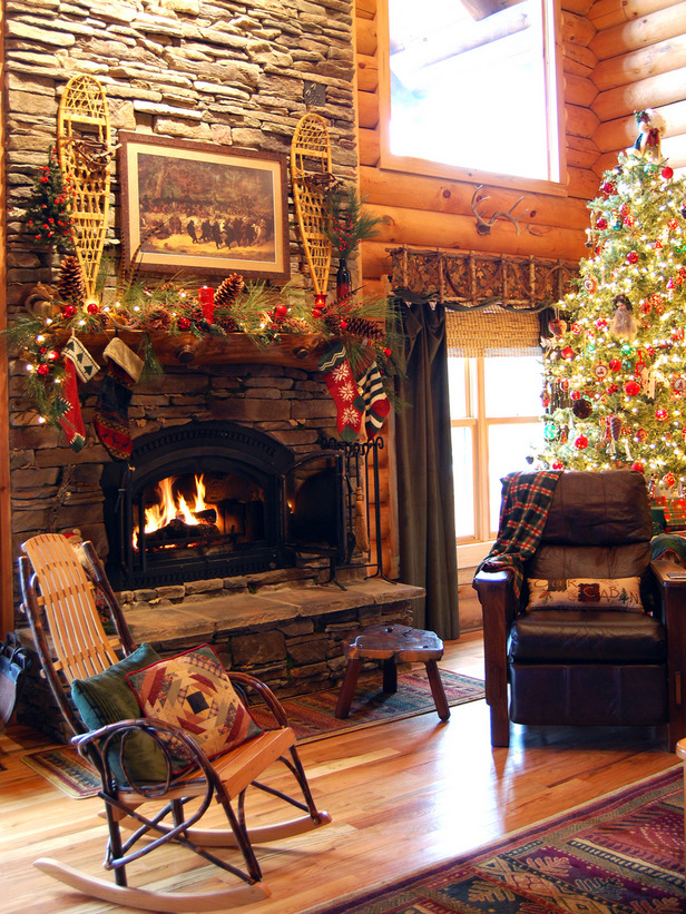cabin-christmas-decorating-ideas