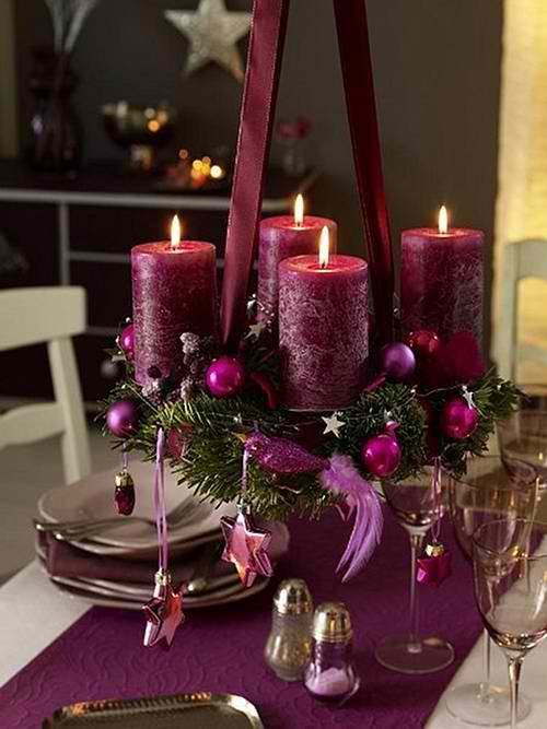 purple-christmas-candle-decoration