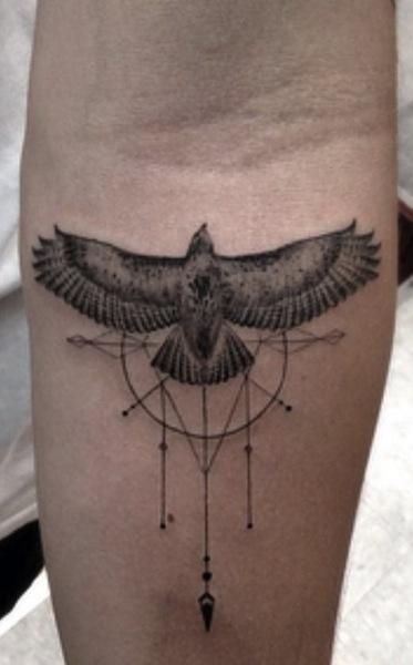 black-and-grey-eagle-tattoos
