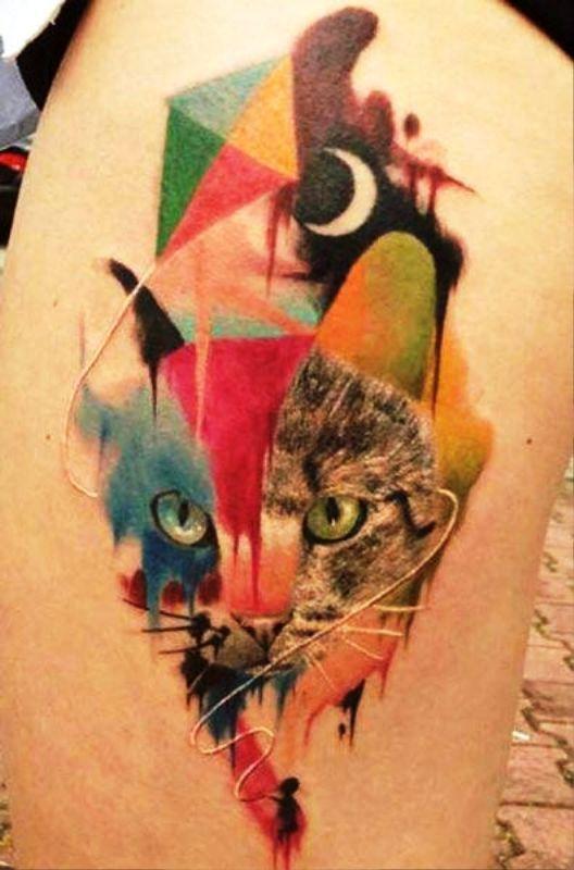 cat-dot-work-tattoo