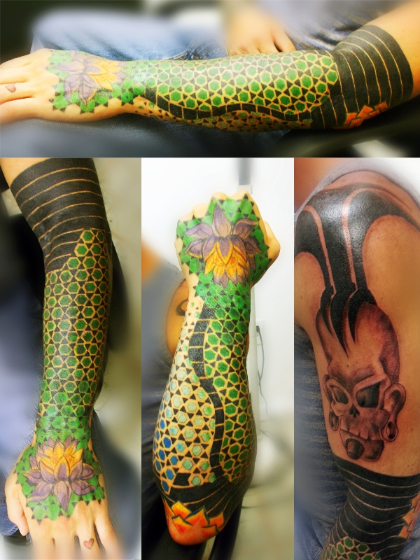 colorful-geometric-tattoo-sleeve