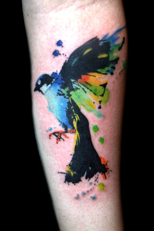 colorful-watercolor-bird-tattoo