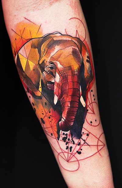 geometric-elephant-tattoo-idea