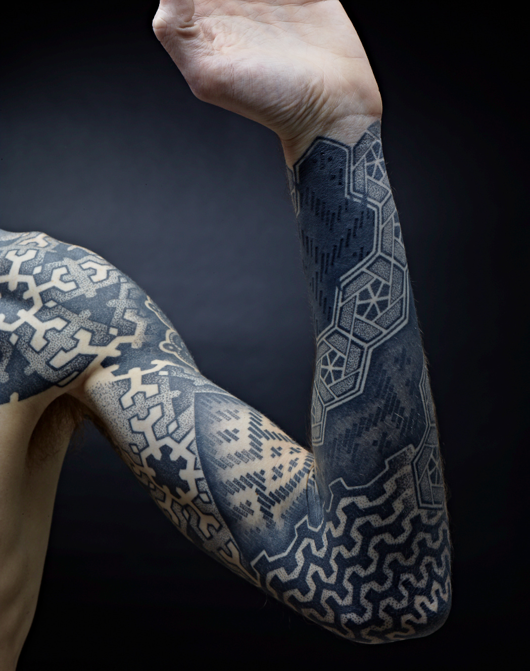 geometric-full-sleeve-tattoo
