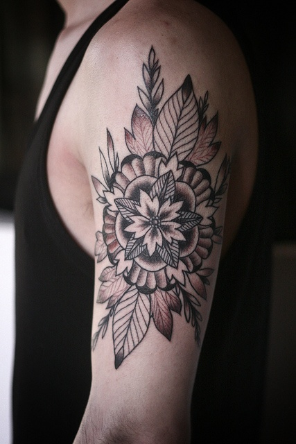 geometric-mandala-flower-tattoo
