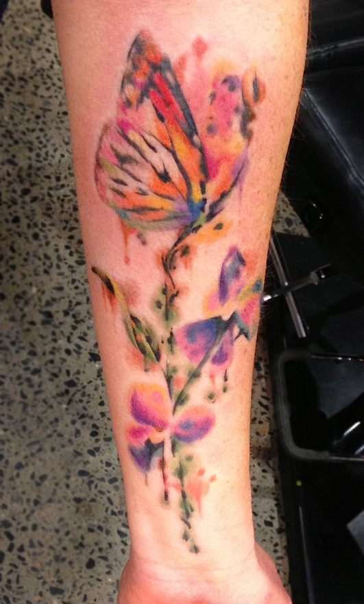 Watercolor Flower Moth Tattoo My Precious Ink: Watercolor Tattoos Butterfly Ideas