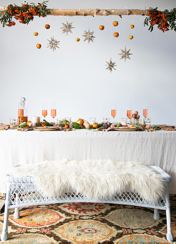 Bohemian New Year's Table for Christmas