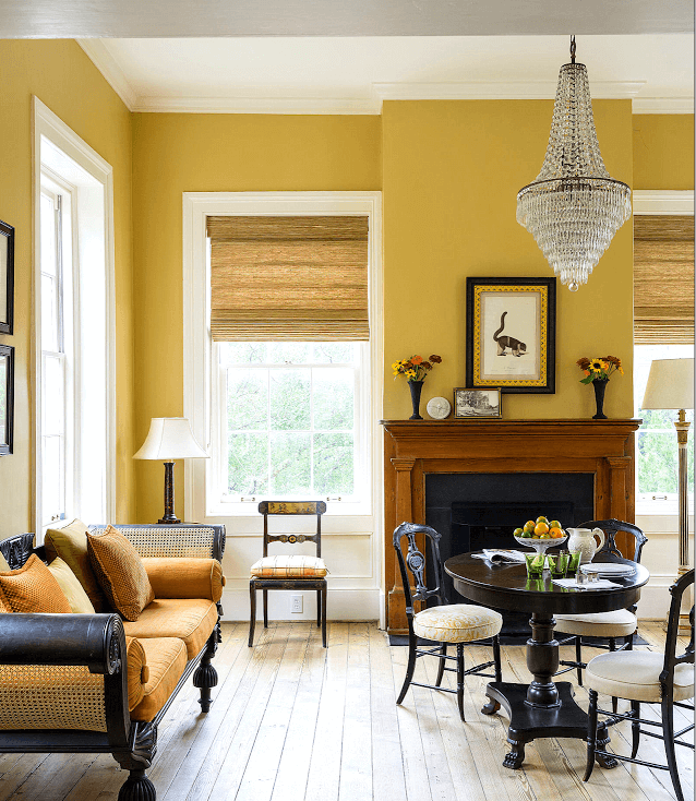How to Adopt Yellow Color in Your Living Room (1)