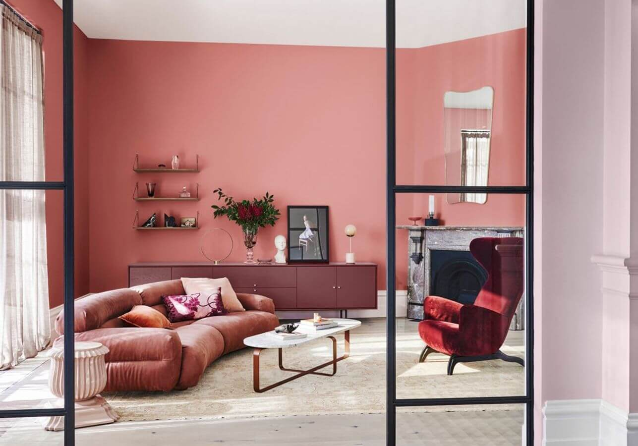 Colorful pink living room (1)