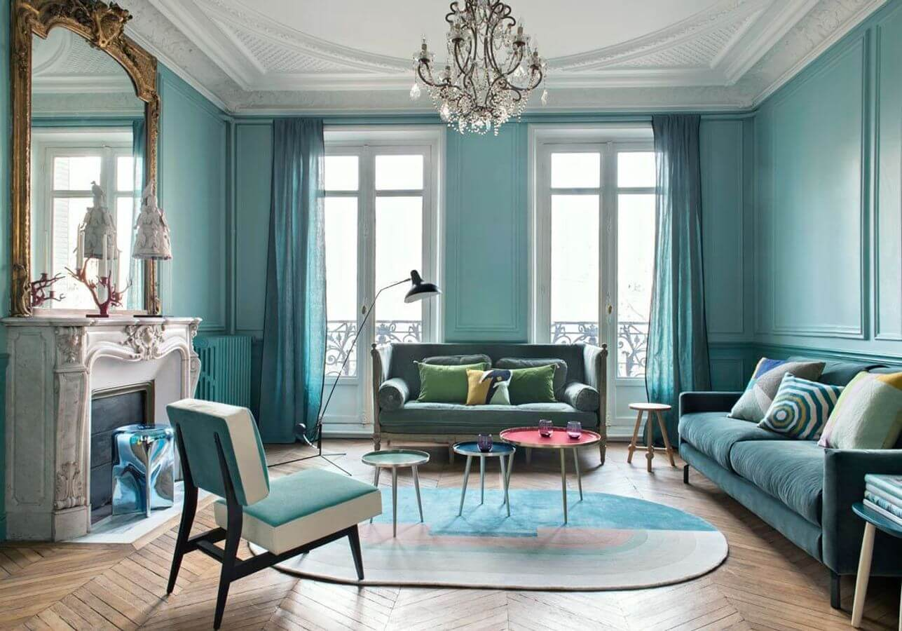 Turquoise blue living room (1)