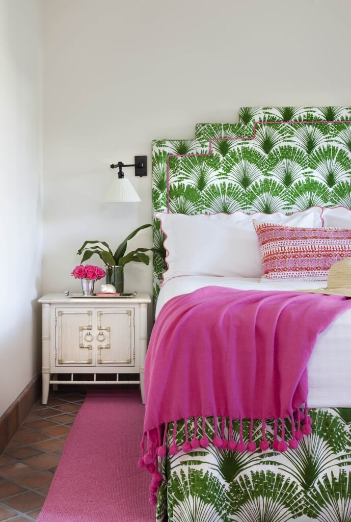 20 Ideas to Combine Pink and Green for a Bedroom (1)